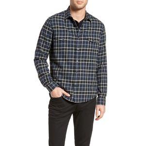 Vince.| Regular fit plaid sport shirt XL